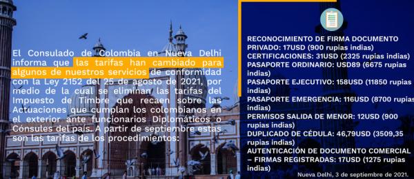 Bajan las tarifas de algunos trámites consulares en el segundo semestre de 2021